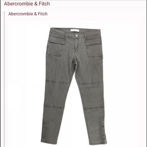 Abercrombie & Fitch grey skinny cargo pants for sale